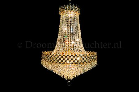 Chandelier Amy 10 light (Crystal/Gold) - Ø23.6 Inch
