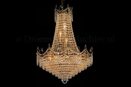 Crystal pendant Diana 12 light 50cm crystal multi-colour