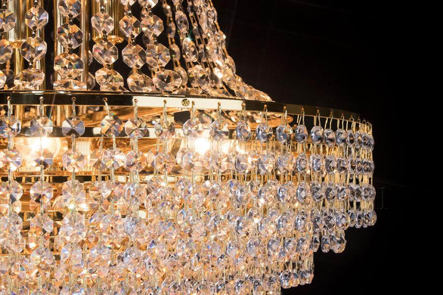 Empire chandelier crystal 15 lights gold 23.6 inch (60cm)  - Livia
