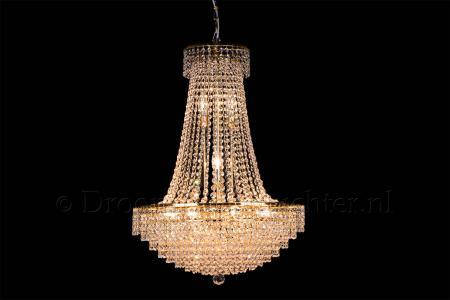 Empire chandelier crystal 15 lights gold 23.6 inch (60cm)  - Livia