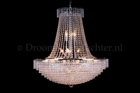 Empire chandelier crystal 24 lights chrome 31.5 inch (80cm)  - Livia