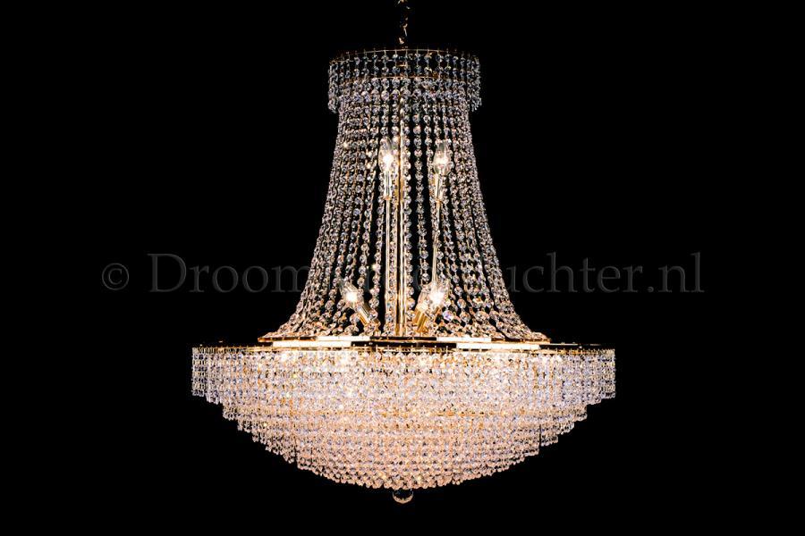 Empire chandelier crystal 24 lights gold 31.5 inch (80cm)  - Livia