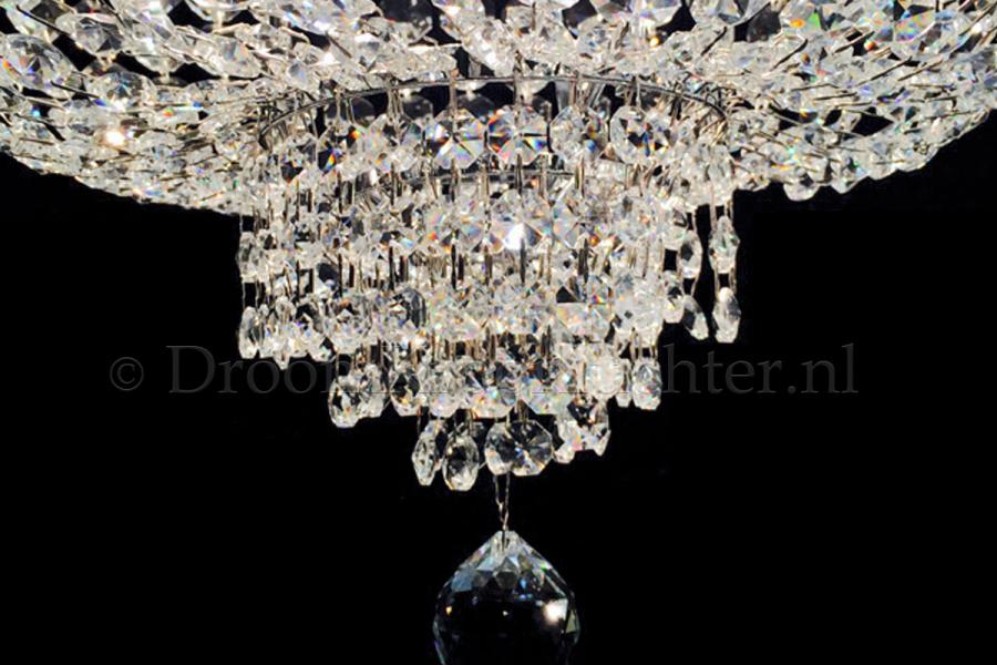 Empire chandelier Palazzo 10 lights (crystal/chrome) - Ø60cm