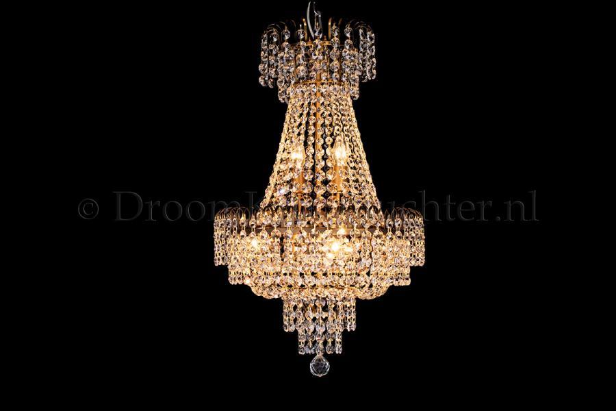 Empire chandelier crystal bronze 40cm / 15.7 Inch - Salle