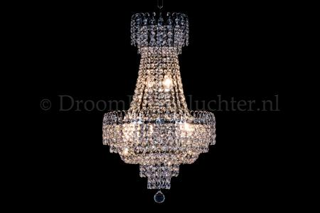 Empire chandelier crystal chrome 40cm / 15.7 Inch - Salle