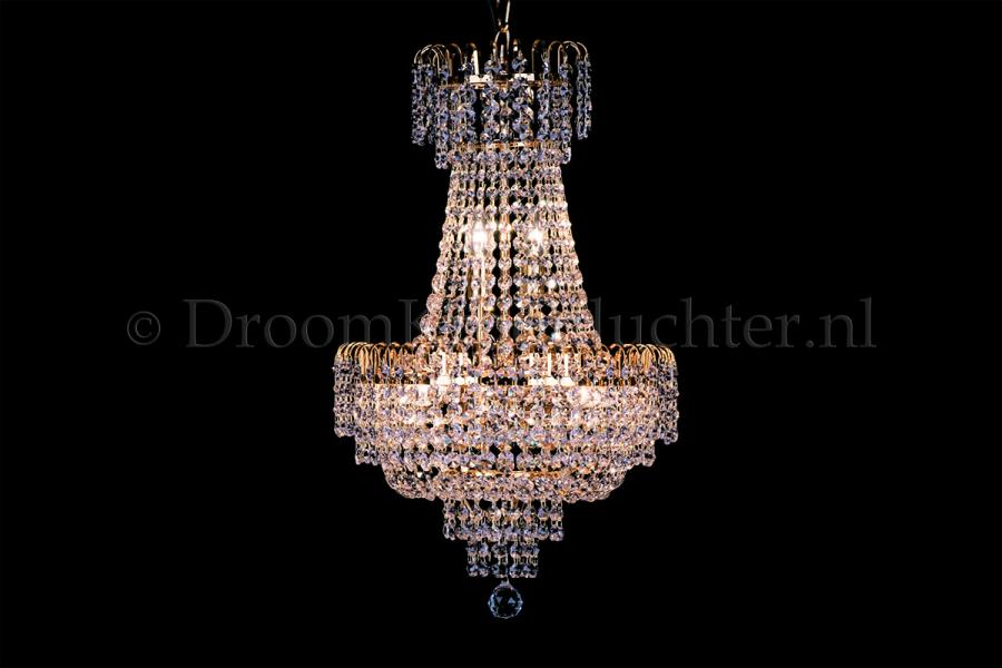 Empire chandelier crystal gold 40cm / 15.7 Inch - Salle