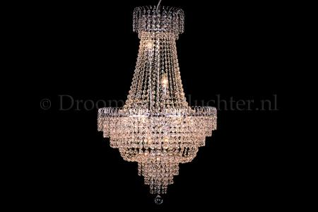 Empire chandelier crystal 23.6 Inch chrome - Salle
