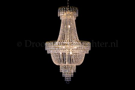 Empire chandelier crystal 60cm gold - Salle