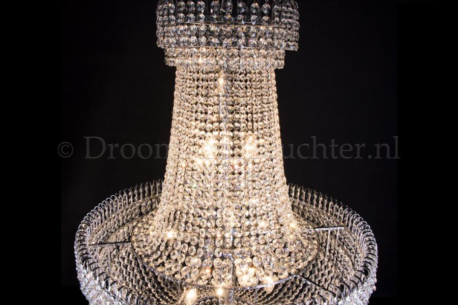 Empire chandelier crystal 31.5 inch (80cm) chrome- Salle