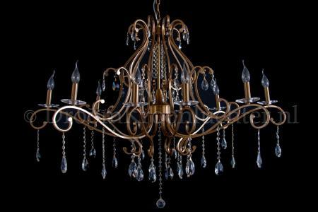 Crystal Chandelier Clarance 10 light (old gold/ gold)