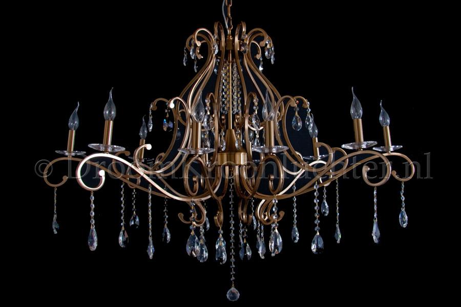 Kristallen kroonluchter clarance 10 lichts kristal oud for Kristallen kroonluchter schoonmaken