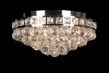 Plafondlamp Amanda 3 lichts (kristal/chroom) - Ø37cm