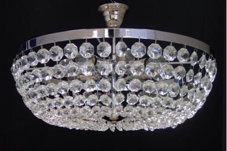 Plafondlamp Ceste 8 lichts (glas/chroom) - Ø50cm