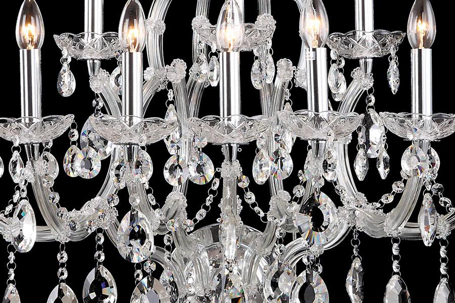 Crystal Wall light Christine 10 lichts