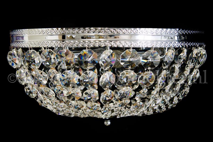 Plafondlamp Dieuwertje 4 lichts (kristal/chroom) - Ø40cm