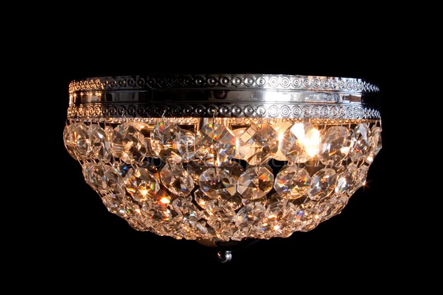 Plafondlamp Dieuwertje 3 lichts (kristal/chroom) - Ø30cm