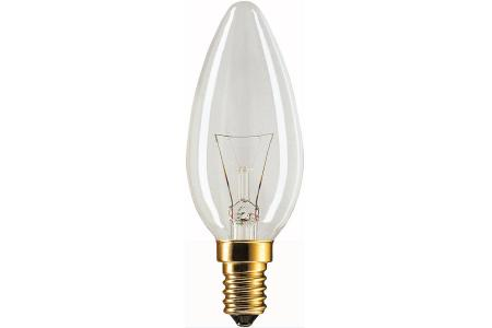 Candle light bulb clear standard 15W