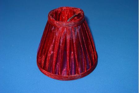 Klemkapje Organza rood