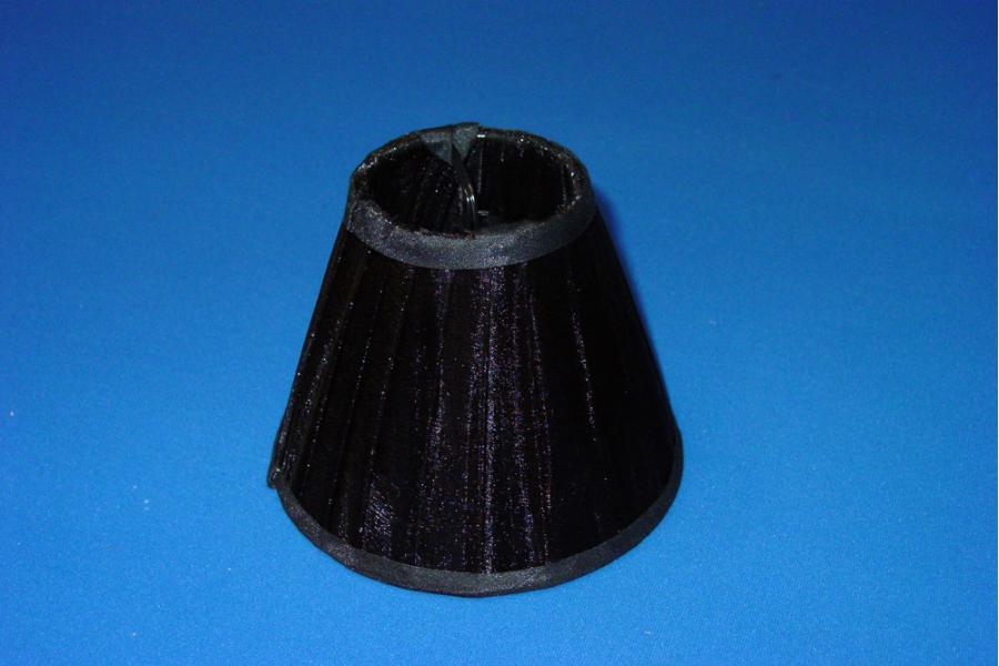 Klemkapje Organza zwart