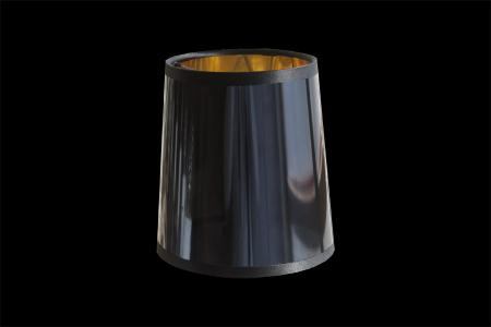 Klemkapje spiegel zwart goud 12cm
