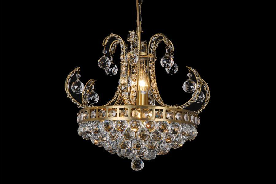 Kroonluchter van glas en kristal kroonluchters van metaal for Kristallen kroonluchter schoonmaken