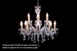 Crystal Chandelier Maria Theresa in chrome 12 lights - Ø60cm