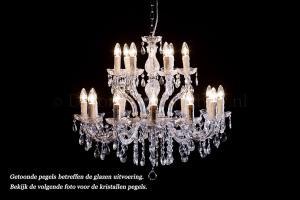 Kristallen Kroonluchter Maria Theresa 12+6 lichts (kristal/chroom) - Ø75cm