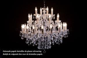 Kristallen Kroonluchter Maria Theresa 28 lichts (kristal/chroom) - Ø90cm