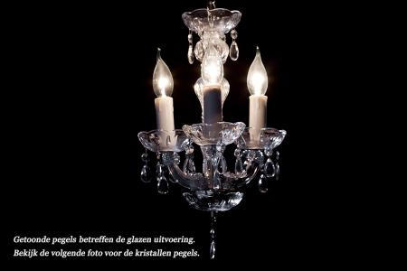 Crystal Chandelier Maria Theresa in chrome 3 lights - Ø27cm
