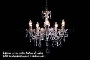 Kristallen Kroonluchter Maria Theresa 5 lichts C-arm (kristal/chroom) - Ø45cm