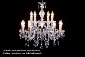 Crystal Chandelier Maria Theresa in chrome 15 lights - Ø60cm