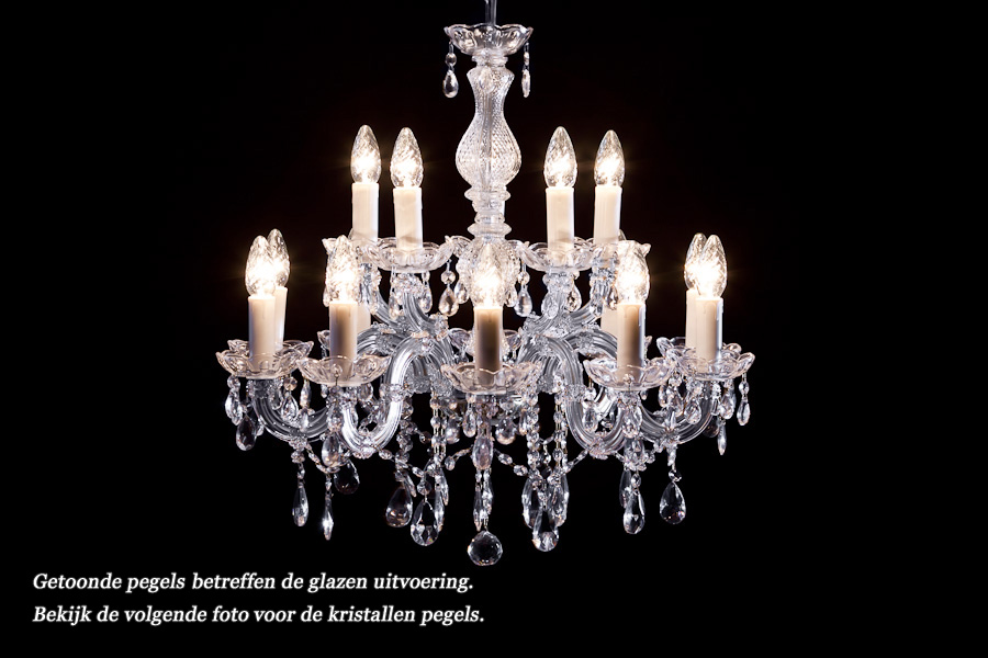Crystal Chandelier Maria Theresa in chrome 15 lights - Ø60cm