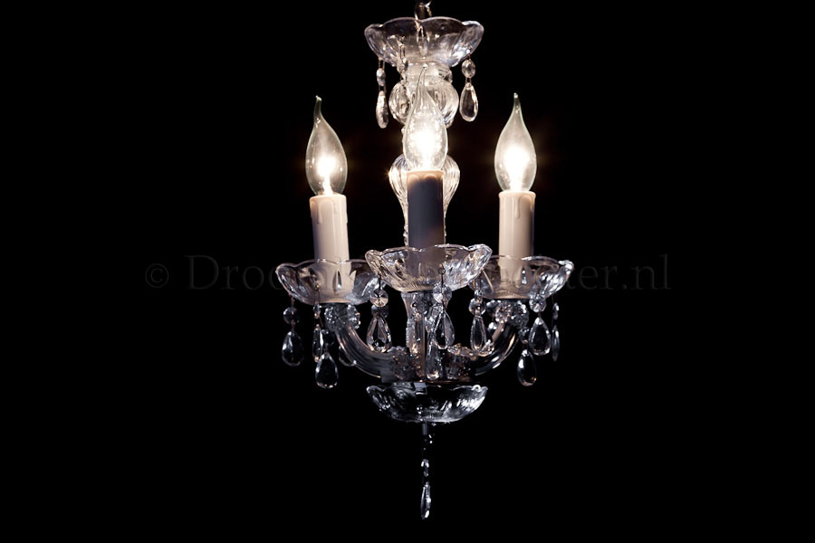 Chandelier Maria Theresa 3 light mini (chrome)
