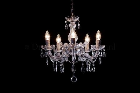 Chandelier Maria Theresa in chrome 5 lights - Ø45cm