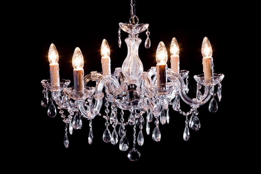 Chandelier Maria Theresa in chrome 6 lights - Ø60cm