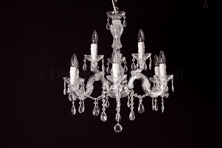Chandelier Maria Theresa in chrome 9 lights - Ø60cm