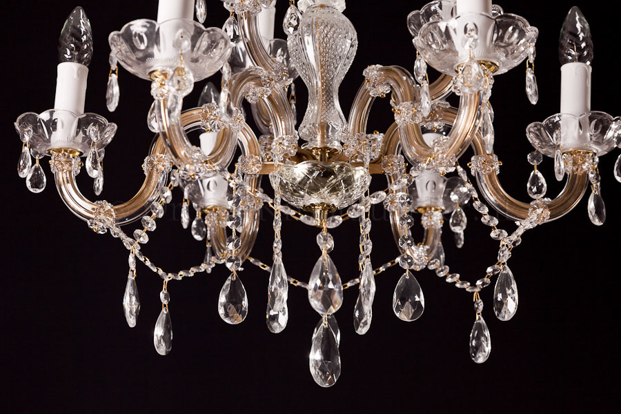 Chandelier Maria Theresa in gold 9 lights - Ø60cm