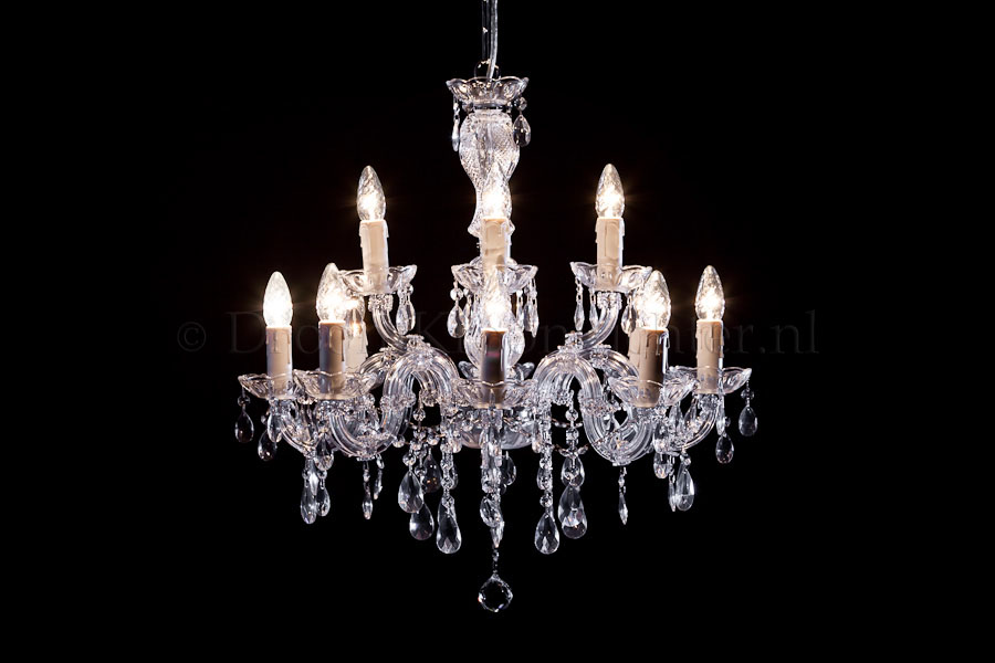 Chandelier Maria Theresa in chrome 12 lights - Ø60cm