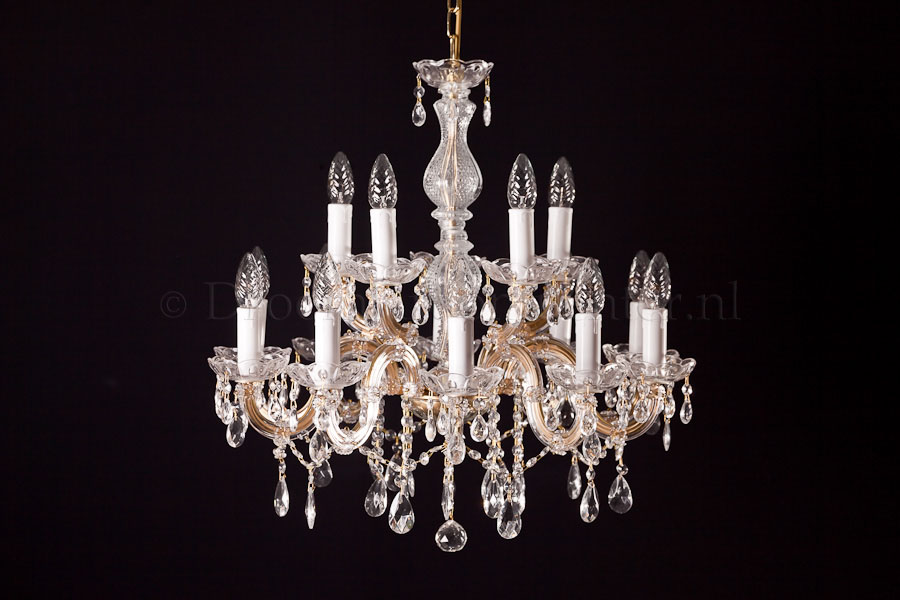 Chandelier Maria Theresa in gold 15 lights - Ø60cm