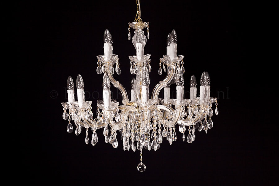 Chandelier Maria Theresa in gold 18 lights - Ø75cm