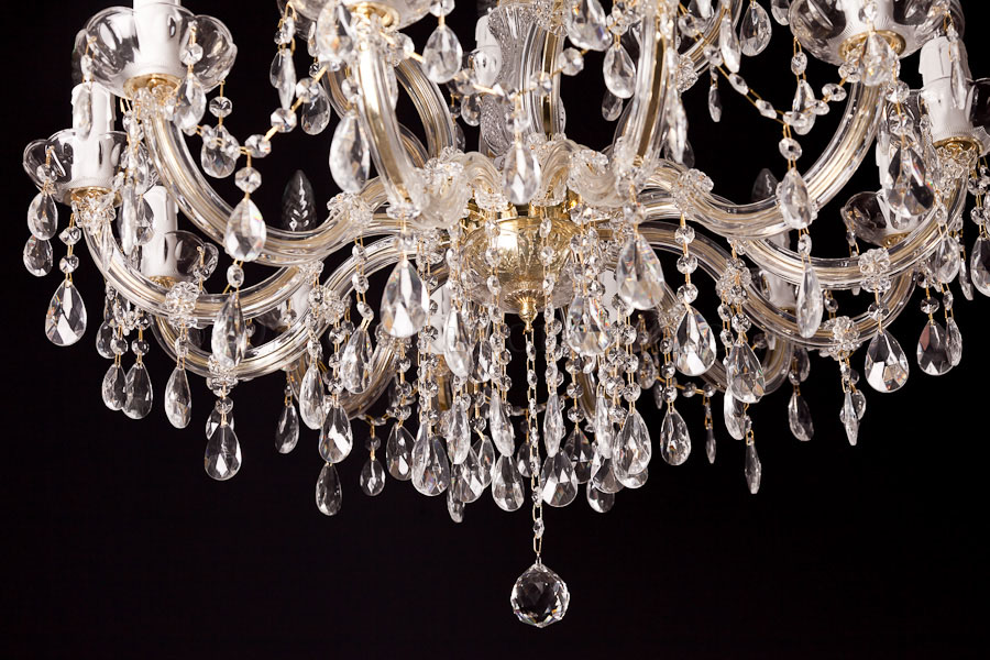 Chandelier Maria Theresa 12+6 light (gold)