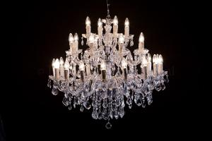 Chandelier Maria Theresa 28 lights (chrome)