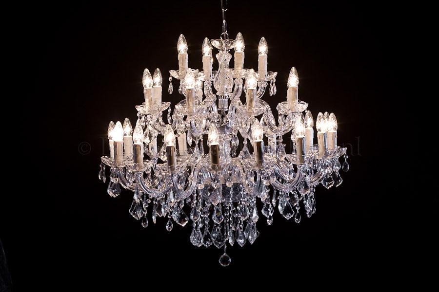 Kroonluchter Maria Theresa 28 lichts (glas/chroom) - Ø95cm