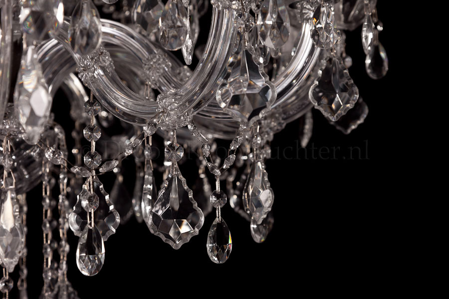 Chandelier Maria Theresa in chrome 28 lights - Ø95cm