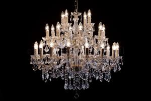 Chandelier Maria Theresa in gold 28 lights - Ø95cm
