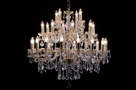 Crystal Chandelier Maria Theresa in gold 28 lights - Ø95cm