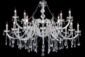 Kristallen Kroonluchter Maria Theresa 12+6 lichts ovaal (kristal/chroom) - 130cm
