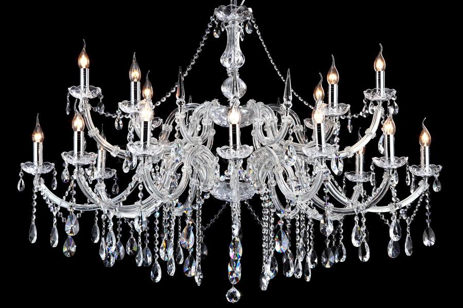 Kristallen kroonluchter maria theresa 12 6 lichts ovaal for Kristallen kroonluchter schoonmaken