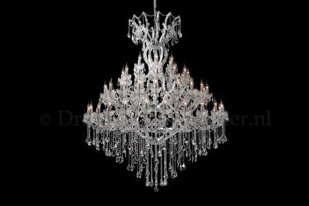 Crystal Chandelier Maria Theresa in chrome 60 lights - Ø170cm