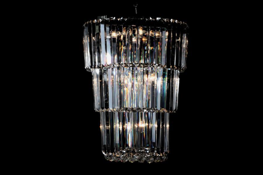 Hanglamp Kristal Mara 15 lichts (kristal/chroom) - Ø55cm